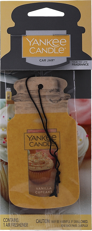 """Dry Air Freshener """"Vanilla Cupcake"""" - Yankee Candle Vanilla Cupcake Car Jar Ultimate"""