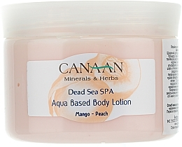 "Fragrances, Perfumes, Cosmetics Water Based Body Lotion ""Mango-Peach"" - Canaan Minerals & Herbs Aqua Based Body Lotion Mango-Peach"