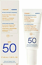 Fragrances, Perfumes, Cosmetics Sunscreen Face & Eyes Cream-Gel - Korres Yoghurt Sunscreen Face & Eyes Cream Gel SPF50
