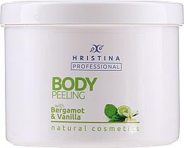 Fragrances, Perfumes, Cosmetics Bergamot & Vanilla Body Peeling - Hristina Professional 100% Natural Bergamot&Vanilla Body Peeling