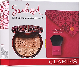 Fragrances, Perfumes, Cosmetics Set - Clarins Sunkissed Gift Set (powder/18g + brush/1pc + pouch/1pc)