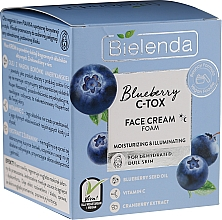 Fragrances, Perfumes, Cosmetics Moisturizing & Brightening Face Cream-Foam - Bielenda Blueberry C-Tox Face Cream