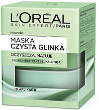 "Fragrances, Perfumes, Cosmetics Matte Face Mask ""Pure Clay"" - L'Oreal Paris Skin Expert"