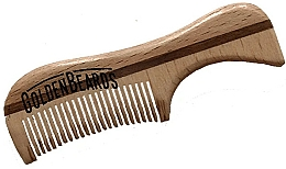 Fragrances, Perfumes, Cosmetics Eco Wood Moustache Comb, 9,5 cm - Golden Beards Eco Moustache Comb