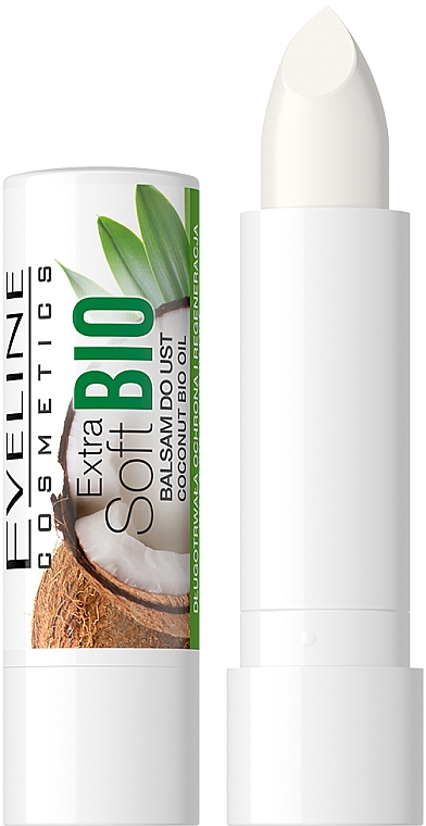 "Lip Balm ""Coconut"" - Eveline Cosmetics Extra Soft Bio Coconut Lip Balm"