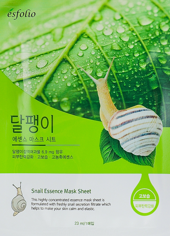 "Sheet Mask ""Snail Essence"" - Esfolio Snail Essence Mask Sheet"