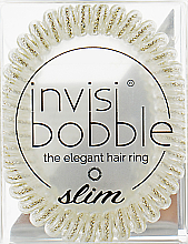 Fragrances, Perfumes, Cosmetics Hair Ring - Invisibobble Slim Stay Gold