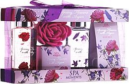 "Fragrances, Perfumes, Cosmetics Set ""Spring Flowers with Argan"" - Spa Moments Spring Flowers With Argan (sh/gel/100ml + salt/50g + sh/gel/100ml + salt/50g)"