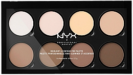Fragrances, Perfumes, Cosmetics Contour Palette - NYX Professional Makeup Highlight & Contour Pro Palette