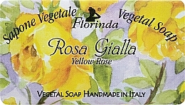 Fragrances, Perfumes, Cosmetics Yellow Rose Natural Soap - Florinda Sapone Vegetal Soap Yellow Rose