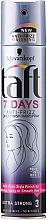 Fragrances, Perfumes, Cosmetics Hair Spray - Schwarzkopf Taft 7 Days Anty-Frizz Daily Finish HairSpray