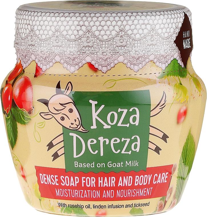 "Hair and Body Thick Soap ""Moisturizing"" - Fito Cosmetic Koza Dereza"