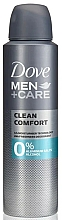 Fragrances, Perfumes, Cosmetics Alcohol and Aluminum Free Deodorant - Dove Men+Care Clean Comfort