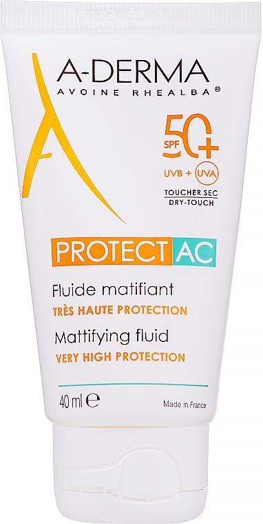Mattifying Facial Fluid - A-Derma Protect AC Mattifying Fluid SPF 50
