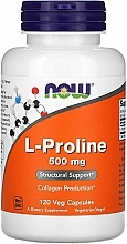 Fragrances, Perfumes, Cosmetics Capsules L-Proline for Joints, 500 mg. - Now Foods L-proline