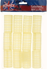 Fragrances, Perfumes, Cosmetics Velcro Rollers 32/63, yellow - Ronney Professional Velcro Roller