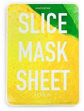 """Fragrances, Perfumes, Cosmetics Facial Sheet Mask """"Lemon"""" - Kocostar Slice Mask Sheet Lemon"""