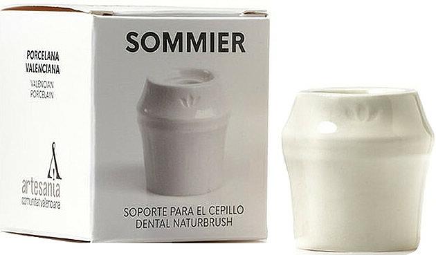 Toothbrush Holder, white - NaturBrush Sommier Toothbrush Holder — photo N1
