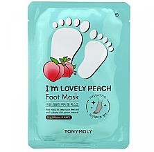 Fragrances, Perfumes, Cosmetics Foot Mask - Tony Moly I'm Lovely Peach Foot Mask