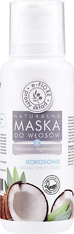 Coconut Hair Mask with Shea Butter & Vegetable Oils - E-Fiore Shea Oil And Oils Coconut Hair Mask — photo N1