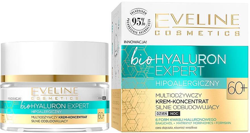 Ultra-Moisturizing Day & Night Cream-Concentrate - Eveline Cosmetics BioHyaluron Expert 60+