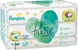 Fragrances, Perfumes, Cosmetics Baby Wet Wipes, 3x42 pcs - Pampers Pure Coconut