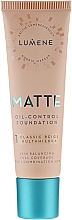 Fragrances, Perfumes, Cosmetics Mattifying Foundation - Lumene Matte Oil-control Foundation