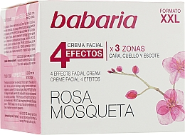 "Fragrances, Perfumes, Cosmetics Rejuvenating Face & Neck Cream ""4 Effects"" - Babaria Rosa Mosqueta 4 Effects Facial Cream"