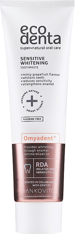 Whitening Toothpaste for Sensitive Teeth, fluoride-free - Ecodenta Sensitive Whitening Toothpaste