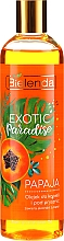 "Fragrances, Perfumes, Cosmetics Shower Gel ""Papaya"" - Bielenda Exotic Paradise Bath & Shower Oil"