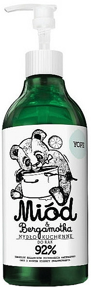 "Liquid Kitchen Soap ""Honey and Bergamot"" - Yope Honey & Bergamot Hand Soap"