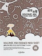 Fragrances, Perfumes, Cosmetics Volcanic Ash Sheet Mask - Esfolio Pure Skin Volcanic Ash Essence Mask Sheet