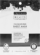 Fragrances, Perfumes, Cosmetics Cleansing Charcoal & Probiotic Sheet Mask - Freeman Beauty Infusion Cleansing Clay Mask Charcoal & Probiotics