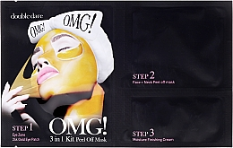 Fragrances, Perfumes, Cosmetics Cleansing Triple Face Mask - Double Dare OMG! 3in1 Kit Peel Off Mask