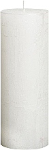 Fragrances, Perfumes, Cosmetics Cylindrical Candle Metallic White, 190/68 mm - Bolsius Candle