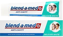 """Fragrances, Perfumes, Cosmetics Toothpaste """"Delicate White"""" - Blend-a-med Anti-Cavity Delicate White"""