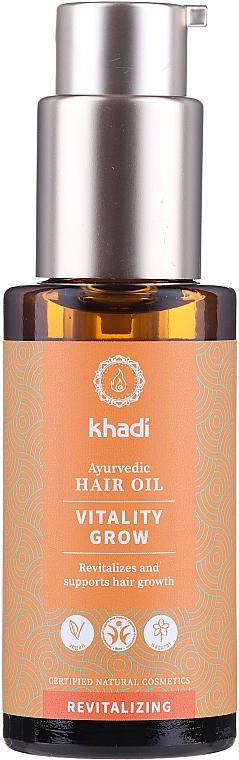 Repairing Hair Oil - Khadi Ayurvedic Vitality Grow Hair Oil