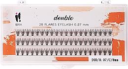 Fragrances, Perfumes, Cosmetics Individual Lashes, C 8 mm - Ibra 20 Flares Eyelash Knot Free Naturals