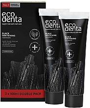 Fragrances, Perfumes, Cosmetics Fluoride-Free Black Whitening Toothpaste - Ecodenta Black Whitening Toothpaste Set