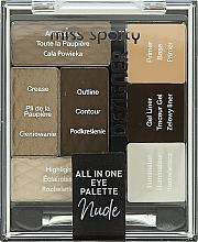 Fragrances, Perfumes, Cosmetics Eye Makeup Palette - Miss Sporty Designer All In One Eye Palette