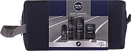 Fragrances, Perfumes, Cosmetics Set - Nivea Men Deep Control 2020 (sh/gel/250ml + ash/lot/100ml + foam/200ml + deo/50ml + bag)