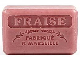 "Fragrances, Perfumes, Cosmetics Marseilles Soap ""Strawberry"" - Foufour Savonnette Marseillaise Fraise"