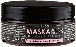 Fragrances, Perfumes, Cosmetics Mud Body Mask with Spirulina, Opuntia Oil and HA Acid - E-Fiore Body Mask With Spirulina, Opuntia Oil And HA Acid