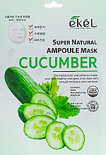 Fragrances, Perfumes, Cosmetics Cucumber Sheet Mask - Ekel Super Natural Ampoule Mask Cucumber