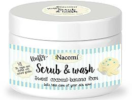 "Fragrances, Perfumes, Cosmetics Washing Peeling Foam ""Coconut & Banana"" - Nacomi Scrub and Wash Sweet Coconut-Banana Foam"
