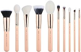 Fragrances, Perfumes, Cosmetics Makeup Brush Set, T449, 10 pcs - Jessup