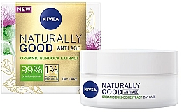 Fragrances, Perfumes, Cosmetics Anti-Wrinkle Day Cream - Nivea Naturally Good Anti Age Day Cream Organic Burdock Extract