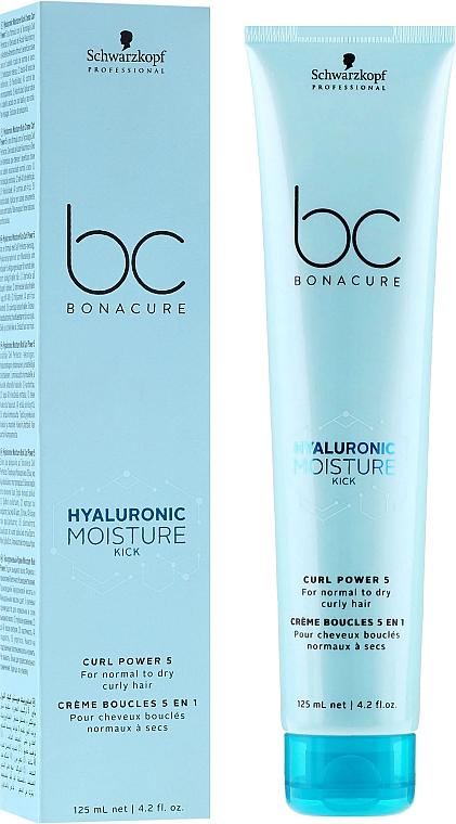 Moisturizing Curly Hair Cream - Schwarzkopf Professional Bonacure Hyaluronic Moisture Kick Curl Power 5