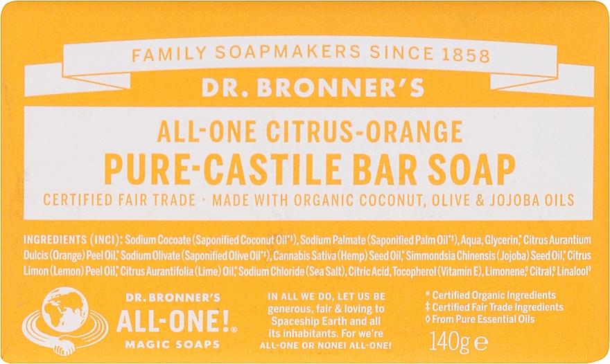 """Soap """"Citrus and Orange"""" - Dr. Bronner's Pure Castile Bar Soap Citrus & Orange"""