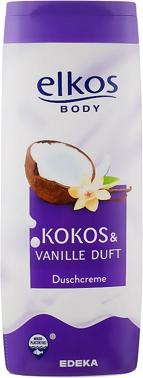 """Shower Cream """"Coconut & Vanilla"""" - Elkos Coconut & Vanilla Shower Gel"""